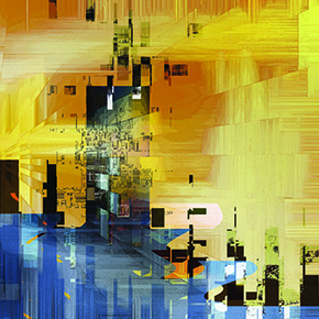 Eastern Terminus is an abstract digital painting